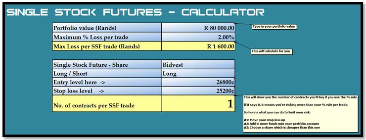 Single Stock Futures, Shares, Portfolio, Trading risk